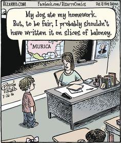 Award-winning, cartoon artist Dan Piraro, has nailed teacher life with these hilarious teacher comics that we can all sit back and laugh at. Biology Humor, Chemistry Jokes, Grammar Humor, Science Jokes, Teacher Comics, Teacher Jokes, Fun Comics, Cartoon Jokes, Funny Cartoons