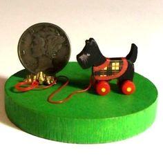 Miniature Scottie DOG Pull Toy KIT. $8.50, via Etsy.