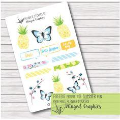 Freebie Friday #9 Summer Fun planner stickers