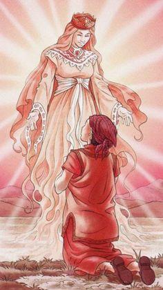 Queen of Cups by Antonella Platano (Tarot of the 78 Doors)