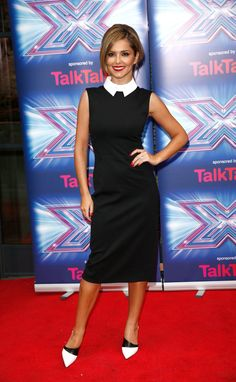 Pin for Later: See Everything Cheryl's Worn on The X Factor So Far The X Factor Press Launch, August 2014 For the press launch, Cheryl opted for a collared black Jason Wu dress.