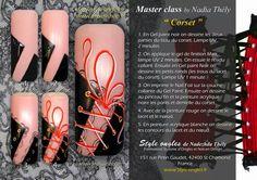 Nail art corset by Nadia Thély