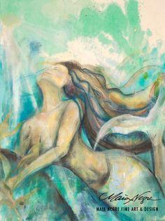Maia Negre - Mermaid 4 - oil on canvas. I love the hair.