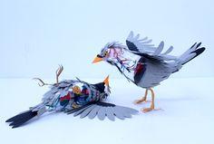 Amazing Paper Bird Sculptures Reveal Their Internal Anatomy - My Modern Metropolis. Paper sculptures by Diana Beltran Herrera.