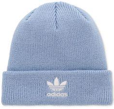 adidas Originals Baby Blue Trefoil Knit Beanie ONLY $26