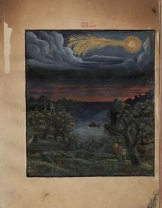 The Comet Book ('Kometenbuch')  is a 16th century album of stylised watercolour sketches of both comets and meteors