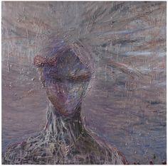Nanna Susi Sfinx [sfinx] - Oil on canvas 2013 Size: 170 x 170 cm Oil On Canvas, Contemporary Art, Sari, Portrait, Kunst, Saree, Painted Canvas, Portrait Illustration, Oil Paintings