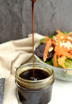 Maple Balsamic Vinaigrette! 5 minutes & 5 ingredients results in the tastiest dressing you've ever made! Paleo, gluten-free, dairy-free, refined-sugar free & vegan!