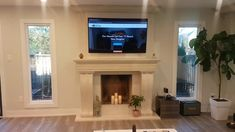 Dynamic Mounting - Fireplace TV Mounting System Tv Mount Over Fireplace, Vent Free Gas Fireplace, Mounted Fireplace, Fireplace Shelves, Home Fireplace, Fireplace Inserts, Wall Mounted Tv, Fireplace Ideas