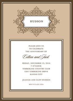 Personalized Antique Frame Invitations
