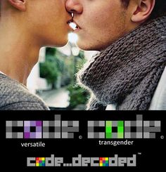 "#codedecoded introduces the #PRIDE code. "" #Identity "" icons developed for a NEW generation of #LGBT+ #QPOC #Love #Lesbian #Quotes #romance #NOH8 #pride #Butch #top #bottom #femme #equality #gaydreams #wetdreams #rainbows #bisexual #Versatile #gay #transgender #pansexual #asexual #spirit #color #Green"