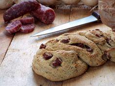 Treccia rustica di pane al salame |