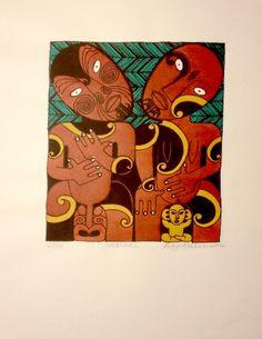 Whanau 2 by Robyn Kahukiwa for Sale - New Zealand Art Prints