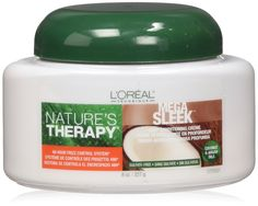L'Oreal Nature's Therapy Mega Sleek Deep Conditioning Creme, 8 Ounce * Hurry! Check out this great product : Hair Care  Conditioner