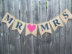 Navy Blue and Hot Pink MR MRS Burlap Banner Bunting Photo Prop Sign Garland Rustic Country Chic Wedding Reception on Etsy, £12.22