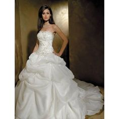 Wedding Dress _ Tulle Long Train Wedding WD0254- OEM