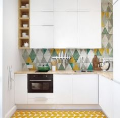 Love the tiles and floor!