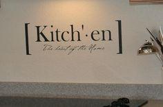 Kitchen definition vinyl lettering by LandeeOnEtsy on Etsy. $9.50, via Etsy.