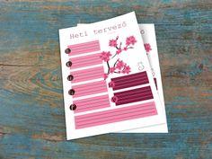 Nyomtatható heti tervező PDF