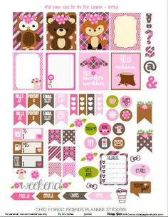 Forest Friends Planner Stickers - Free Printable