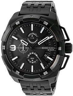 Men's Wrist Watches - Diesel Mens DZ4395 Heavyweight Black Ip Watch *** You can get more details by clicking on the image. (This is an Amazon affiliate link)