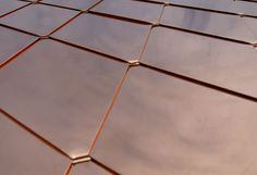 Copper shingles roofing... it only last a few centuries...