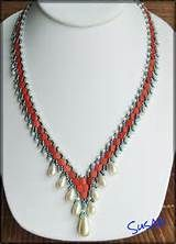 ... Drops with tila beads necklace