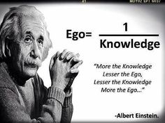 Ego & Knowledge Relationship #quote