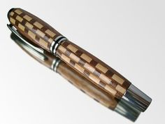 Checkered Wood Pen  Gift For Boyfriend  Maple & by CastleInkPens, $40.00