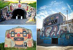 Conheça o trabalho do grafiteiro que pinta incríveis murais cheios de humor
