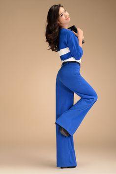Aliexpress.com : Buy 2013 Autumn Fashion Formal Womens High Waist BlackTrousers , Woman Elegant XXL Linen Wide Leg Pants For Women , Woman C...