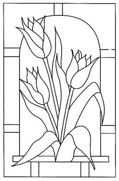 pergamano - Page 9 Glass Painting Patterns, Stained Glass Patterns Free, Glass Painting Designs, Stained Glass Quilt, Stained Glass Flowers, Faux Stained Glass, Stained Glass Designs, Stained Glass Projects, Mosaic Patterns