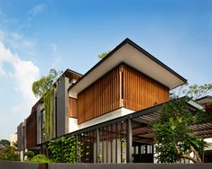 Discover recipes, home ideas, style inspiration and other ideas to try. Modern Tropical House, Tropical House Design, Modern Small House Design, Minimalist House Design, Filipino Architecture, Tropical Architecture, Facade Architecture, Residential Architecture, Origami Architecture
