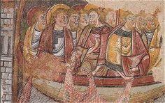 La Pêche Miraculeuse, fresque de la Salle Capitulaire de l'Abbaye de la Trinité à Vendôme