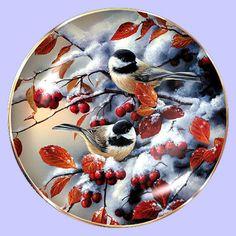 Winter Gems: Chickadee - Hadley House - Artist: Rosemary Millette