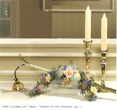 Church Candlelighter with Flowers - Church Wedding Decorations.  Available through most florist