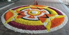 60 Most Beautiful Pookalam Designs for Onam Festival - part 2 - 20 onam pookalam flower Indian Rangoli Designs, Rangoli Designs Flower, Rangoli Designs Images, Flower Rangoli, Beautiful Rangoli Designs, Flower Designs, Onam Greetings, Onam Pookalam Design, Onam Wishes
