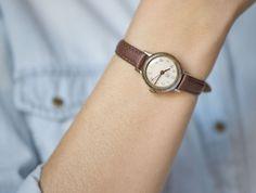Casual women's watch Dawn simple women's watch silver by SovietEra
