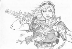 Daniele Torres : Babydoll (Sucker Punch) by comiconart on DeviantArt Sucker Punch, Battle Chasers, Enter The Dragon, Suckers, Comic Artist, Coloring Books, Baby Dolls, Pop Culture, Comic Books