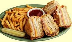 Bennigan's monte cristo recipe - Miss it. Maybe someday I'll get a deep fryer and attempt this.