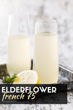 Elderflower French 75 Cocktail Recipe - Easy Brunch Cocktail for a Group Bubbles make every occasion special, but this Elderflower French 75 cocktail just took bubbles to a whole new level! Simple, sweet and perfect for brunch! Prosecco Cocktails, Cocktail Drinks, Simple Cocktail Recipes, Summer Drinks, Fun Drinks, Beverages, Refreshing Drinks, French 75 Cocktail, Recipes