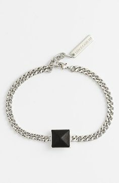 Vince Camuto 'Blow Up Pyramid' Leather Stud Line Bracelet available at #Nordstrom