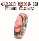 pink camo wedding band