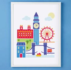 London England Art Print for Nursery or by mytinytotcreative, $16.00