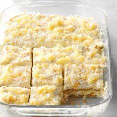 Pina Colada Icebox Cake Icebox Desserts, Icebox Cake Recipes, Potluck Desserts, Summer Desserts, Just Desserts, Cookie Recipes, Potluck Recipes, Fast Recipes, Summer Food