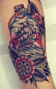 That color combo Leg Tattoos, Arm Tattoo, Body Art Tattoos, Sleeve Tattoos, Ship Tattoos, Arrow Tattoos, Tattoo Flash, Tattoo Small, Future Tattoos