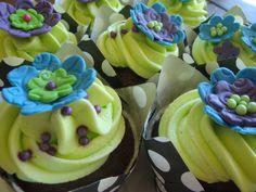 (For jennifer) Blue, Purple, Green cupcakes
