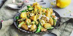 Grønn potetsalat med sitrondressing og chevre