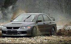JDM Mitsubishi Evo 7 on gravel | FREE JDM classifieds and JDM lifestyle community --> www.jdmads.com | LIKE us on Facebook --> www.facebook.com/jdmads