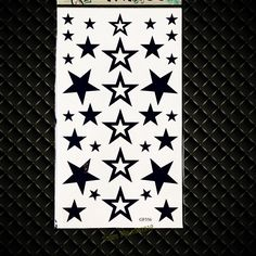 Cute Black Star Temporary Tattoo For Children Body ARm Shoulder Hands Tattoo Stickers GGF556 Kids Toys Fake Flash Tattoo Black